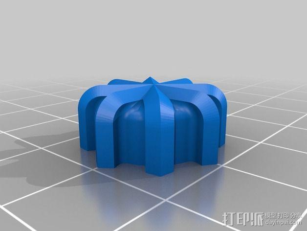 螺丝钮 3D模型  图2