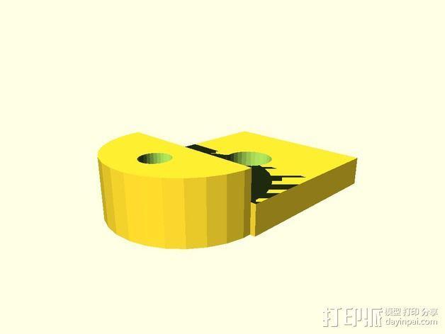心形摆件 3D模型  图3