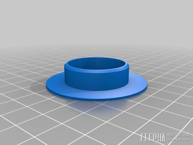轴承适配器 3D模型  图2