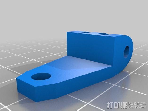 风机管道支撑 3D模型  图1