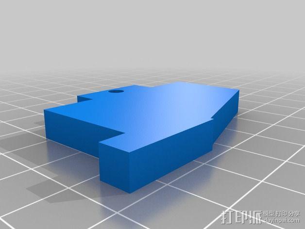 X轴适配器 3D模型  图4