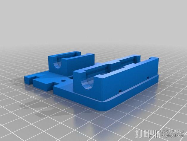 X轴适配器 3D模型  图7