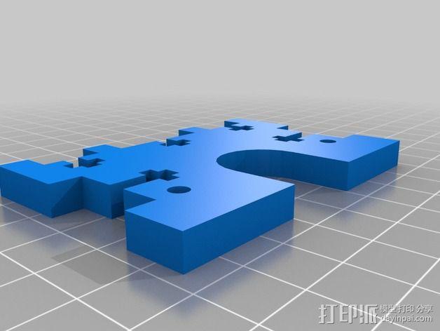 X轴适配器 3D模型  图6