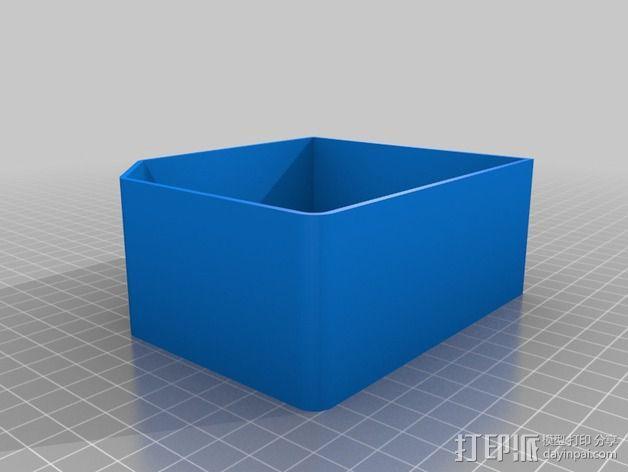 双存储盒 3D模型  图2