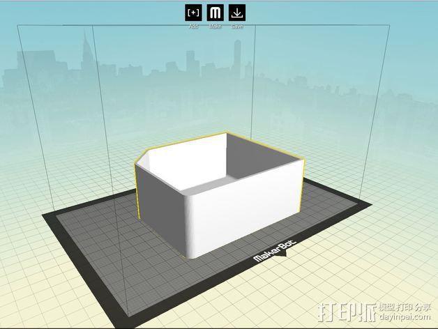 双存储盒 3D模型  图4