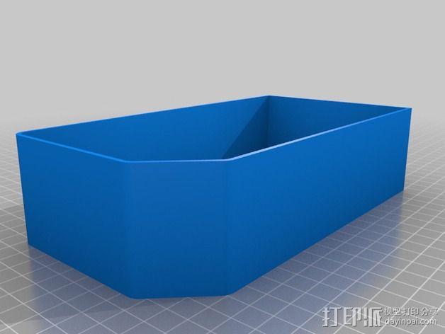 双存储盒 3D模型  图3