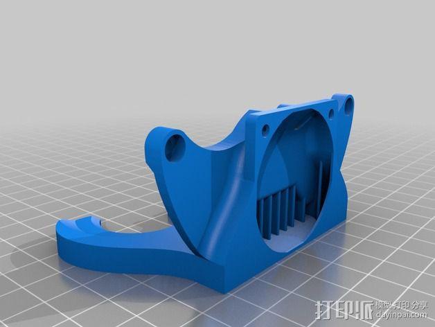 风扇管 3D模型  图2