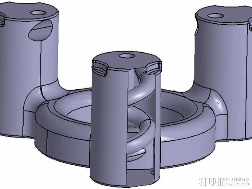冷却器 3D模型  图1
