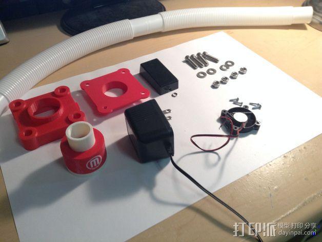 Replicator 2X风扇 3D模型  图6