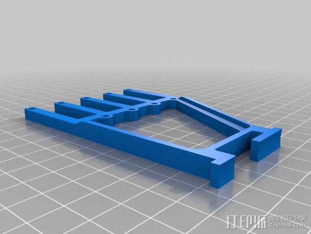 线丝轴 3D模型  图2
