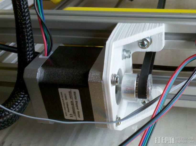 Y轴适配器 3D模型  图1