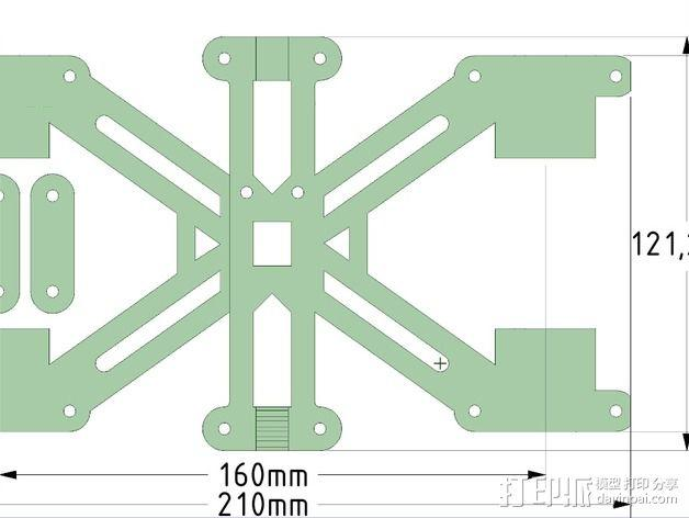 MendelMax 1.5 Y轴适配器 3D模型  图8