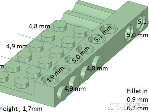 乐高兼容测试 3D模型  图1