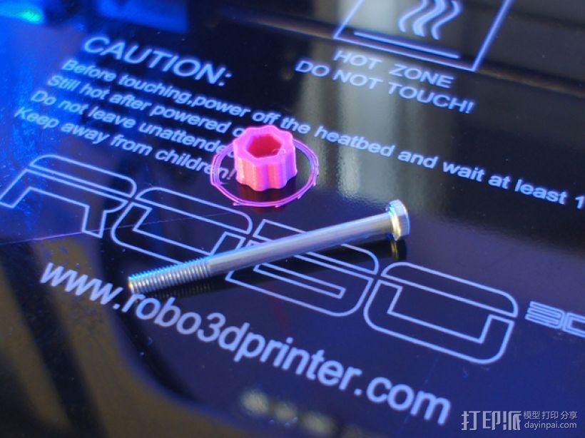 花式螺旋按钮 3D模型  图2
