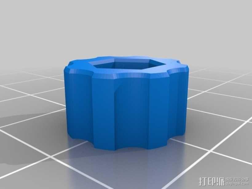 花式螺旋按钮 3D模型  图3