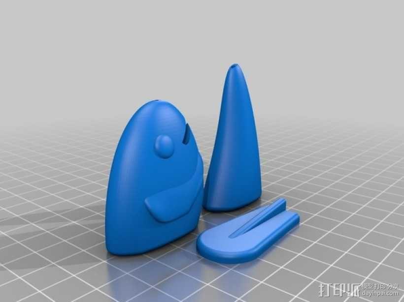 鱼摆件 3D模型  图1