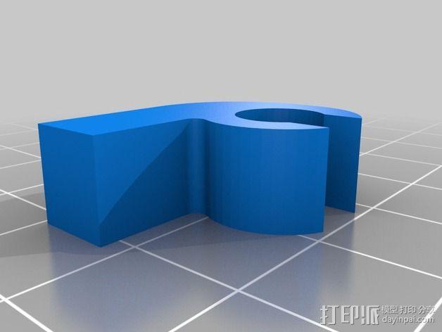 X轴夹 3D模型  图2