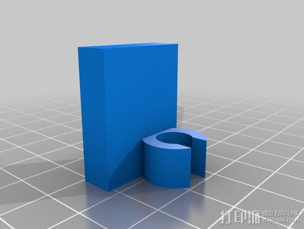 X轴夹 3D模型  图4