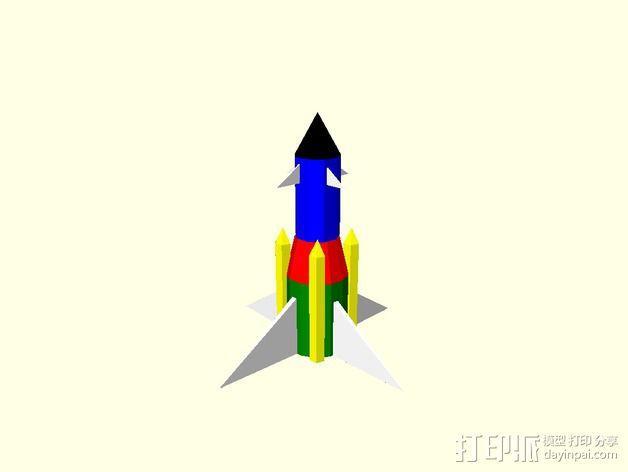 火箭摆件 3D模型  图1