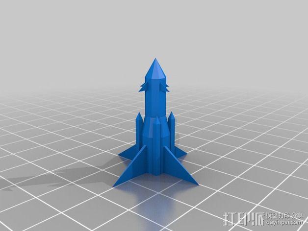 火箭摆件 3D模型  图2