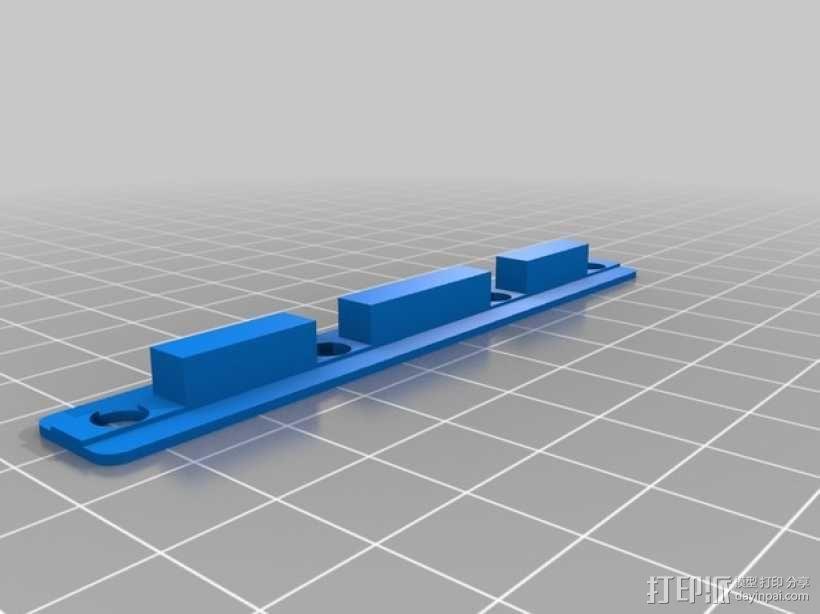 K8200螺丝适配器 3D模型  图1