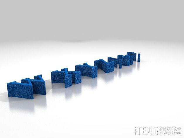 字母ABCDEFG模型 3D模型  图3