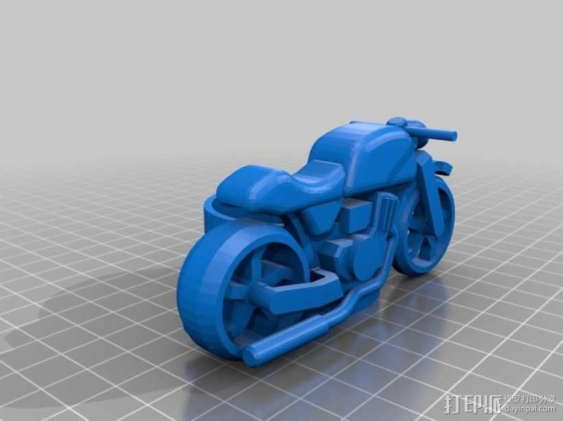 摩托车摆件 3D模型  图1