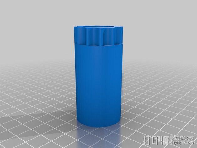 线轴 3D模型  图3