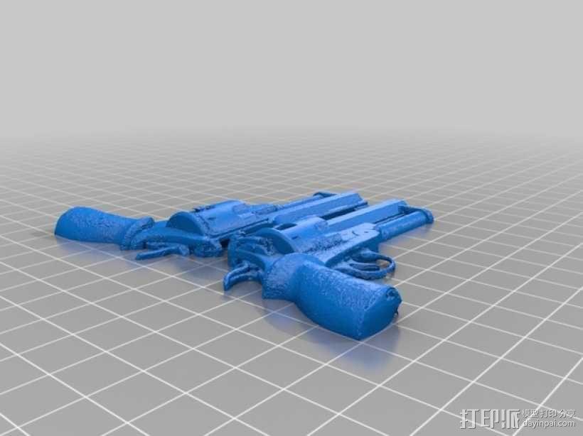小型手枪摆件 3D模型  图2
