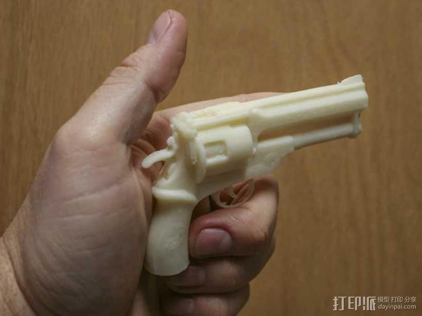 小型手枪摆件 3D模型  图3