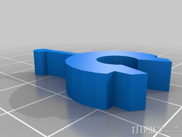 带杆支架 3D模型  图1