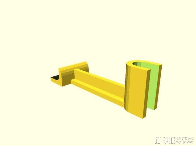 X轴支架 3D模型  图2