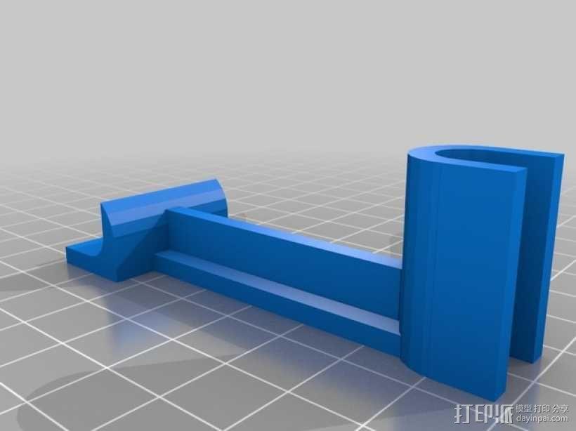 X轴支架 3D模型  图3