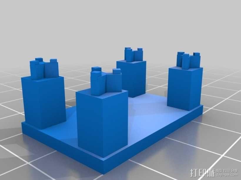 钢琴摆件 3D模型  图3