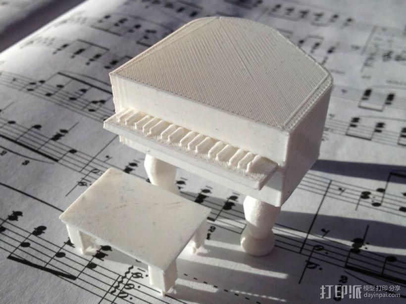 钢琴摆件 3D模型  图1