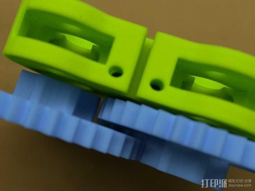 双挤出器 3D模型  图1