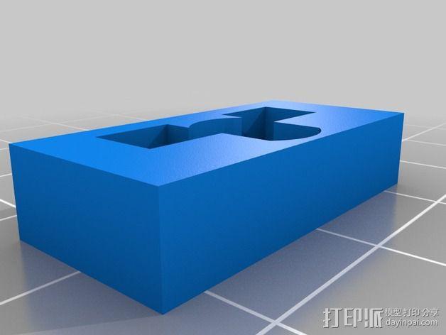 挤出器弹簧板 3D模型  图2