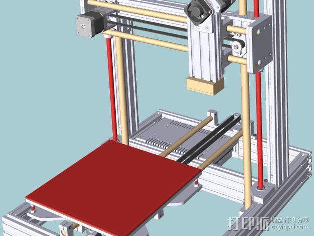 打印机 3D模型  图1