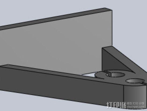 Z轴支撑 3D模型  图1