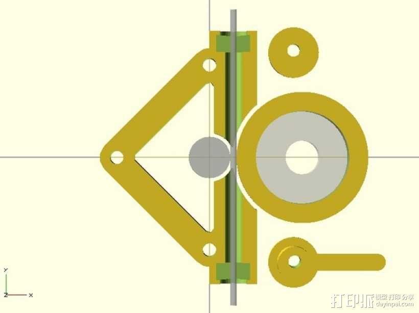 直接驱动挤出器 3D模型  图4