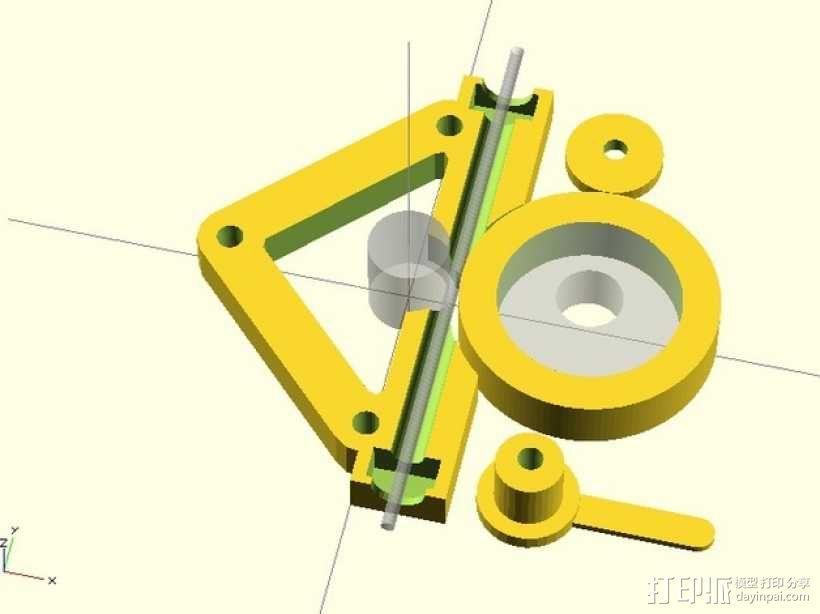 直接驱动挤出器 3D模型  图3