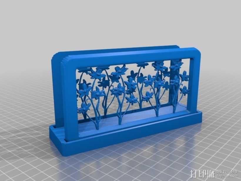 花朵夹子 3D模型  图1