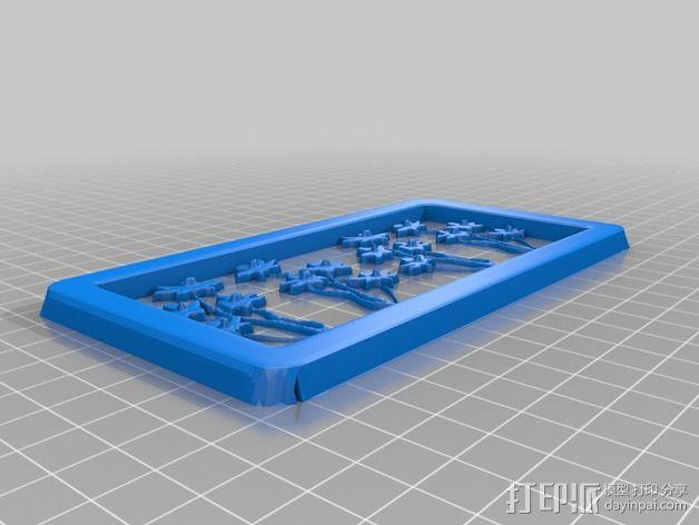 花朵夹子 3D模型  图2
