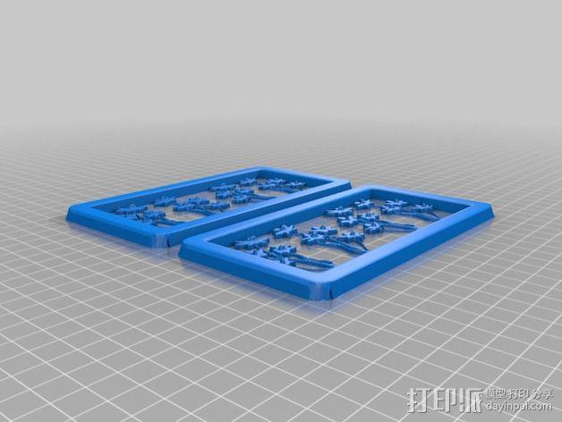 花朵夹子 3D模型  图4