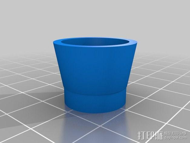 挤出器适配器 3D模型  图3