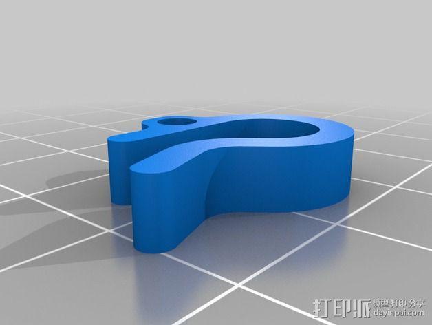线丝夹 3D模型  图2