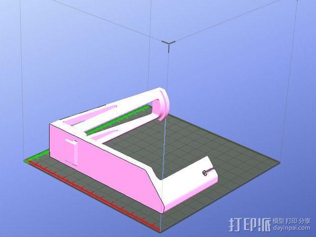 线轴架 3D模型  图3