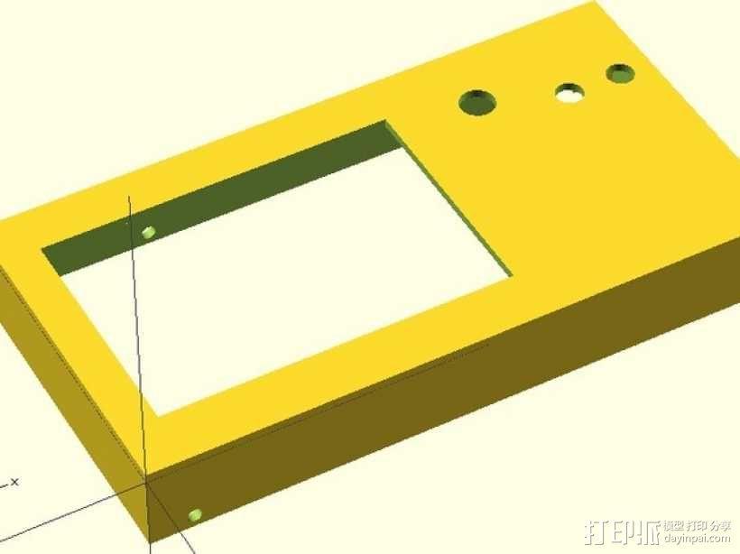 LCD外壳 3D模型  图1
