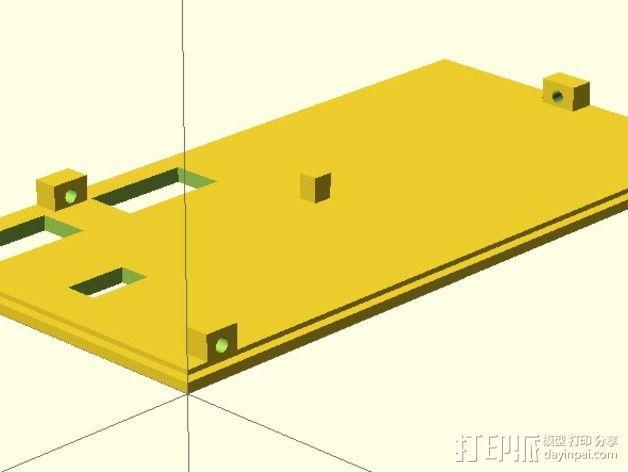 LCD外壳 3D模型  图4