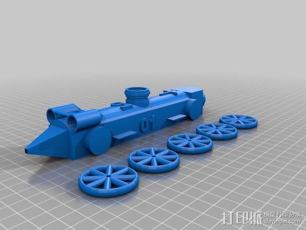 驱动车 3D模型  图2